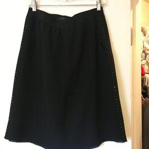 Marc Jacobs Silk Midi Skirt - Black